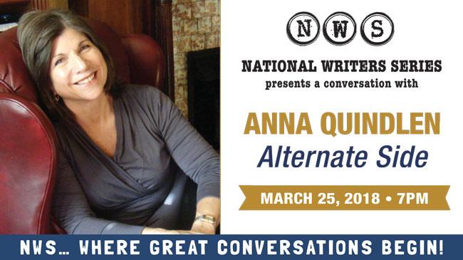 An Evening with Anna Quindlen